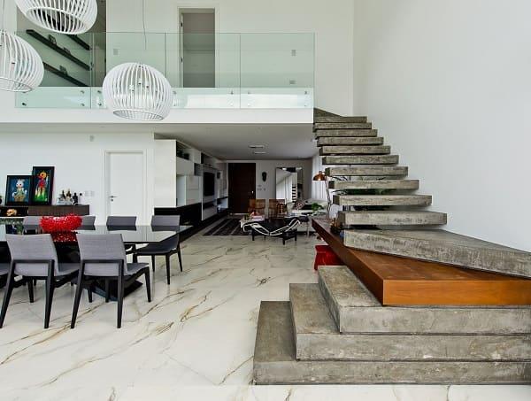Descubra como fazer escada de concreto e veja 35 exemplos perfeitos